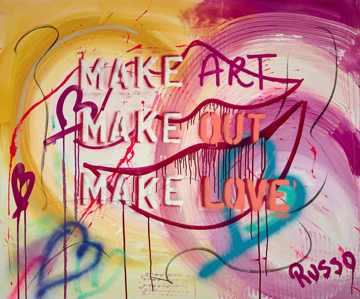 Make Art, Make Out, Make Love by antonio russo -  sized 47x39 inches. Available from Whitewall Galleries